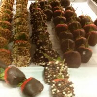 Chocolate coated Strawberies